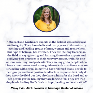 Missy Irvin, Marriage Center of Indiana, Testimonial on Michael and Kristin Cary